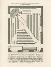 ANTIQUE PLANS JUSTICE GREAT HALL OF THE GUARDS VERSAILLES PALACE FRANCE  PRINT