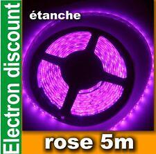 814# Ruban LED souple rose 5m 300 LED - étanche  60LED/m 3528 strip LED