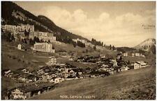 Leysin cantone Vaud Svizzera 1914 vecchia cartolina case ville Hotel sguardo