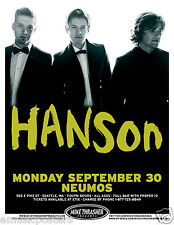 "Hanson 2013 ""Anthem Tour"" Seattle Concert Poster - Group Standing In Tuxedos"