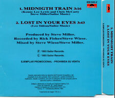 "STEVE MILLER BAND ""MIDNIGHT TRAIN / LOST IN YOUR EYES"" SPANISH PROMO CD SINGLE"