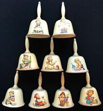 9 pc. Lot 1980's Hummel Goebel Annual Bells Porcelain W. Germany Look @ details!