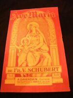 Partition Ave Maria Schubert Music Sheet