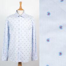 Para Hombre De colección patrón de Paisley amplio cuello camisa Mod Weller Scooter Estilo XL