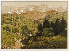 HANS THOMA - Alpen (St. Anton bei Partenkirchen) - Farblithografie 1906