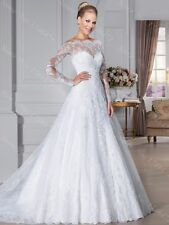 New White/ivory Wedding dress Bridal Gown custom size 6 8 10 12 14 16+++