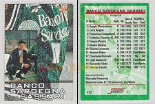 JOKER BASKET Serie A2 1994-95 - Marcello Perazzetti Banco Sardegna Sassari # 177