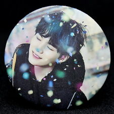 Fashion Kpop Bangtan Boys SUGA Badge Brooch Chest Pin Souvenir Gift - (58mm)