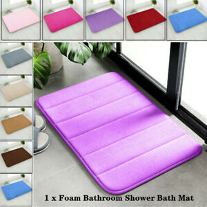 Microfibre Memory Foam Bath Bathroom Floor Shower Mat Rug Nonslip Absorbent Soft