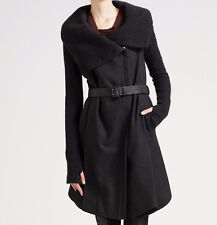 Helmut Lang Black Wool Knit Military Combat Coat Size Large NWT