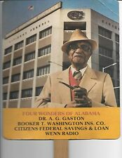 1960s Birmingham Alabama Black Millionaire A G Gaston advertising funeral fan