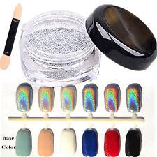 2g Holographic Laser Powder Chrome Pigments Nail Art UV Gel Rainbow DIY