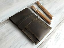 Cuero de cuero verde Caso de cigarro Cigar Box Cuero Rollo De Cigarro