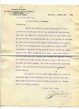 Vintage Letterhead LEONARD & McCOY Miner Railroad & Electric Supplies NY 1910