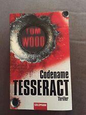 "GERMAN TEXT ""CODENAME TESSERACT"" TOM WOOD PAPERBACK BOOK DEUTSCHE BUCH"