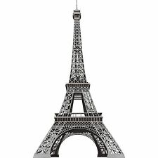 The Eiffel Torre in Nero e Argento Buccia e Bastone da Parete RMK1576GM
