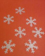 40 Bianco Commestibili Fiocchi di Neve Natale Cupcake DECORAZIONI PER TORTA DECORAZIONI congelati