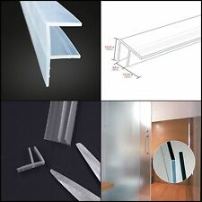 Frameless Glass Shower Door Sweep Bottom Seal Weatherproof Silicone 10 Feet TAX0