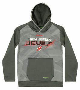 Reebok NHL Youth New Jersey Devils Forecheck Hoodie, Gray