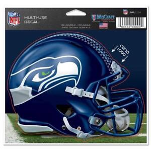 "Seattle Seahawks Helmet 5"" x 6"" Multi Use Decal Static Cling - Truck Car Window"