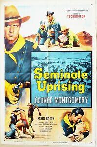 Seminole Uprising 1955 George Montgomery, Karin Booth! Original US Poster