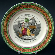 Vintage Adams Cries of London Bread Plates 17.5cm Dia Fresh Gathered Peas in VGC