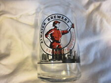 ATWATER BREWERY Detroit Skyline Logo Jar Shaped 12 Ounce Glass Beer
