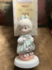 Precious Moments Figurine 1996 Who's Gonna Fill Your Shoes #531634