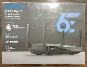 LINKSYS HYDRA PRO 6E TRI-BAND MESH ROUTER MR7500 55+ DEVICES 2700 SQ FT. AXE6600