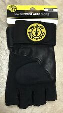 Gold's Gym Men's Classic Wrist Wrap Half-finger Weight Lifting XS/S New Black.