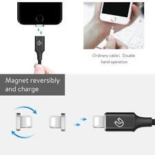360 grados de carga magnética auto Enchufe Redondo Metal Cable de Carga Magnético Apple