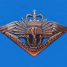 AUSTRALIAN RASB RETURNED FROM ACTIVE SERVICE BADGE MEDAL CURRENT AWARD RAR  -01