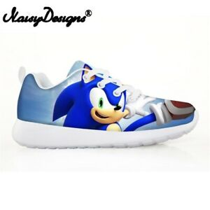 Children's Shoes Sneakers Sonic The Hedgehog Casual Flats Breath Lace-up Shoes