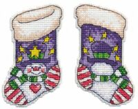 New Counted Cross Stitch Embroidery Kit Christmas Tree Toy Stocking by Oven
