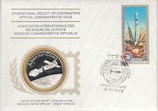 Numisbrief   UdSSR  Raumfahrt  Apollo - Soyuz   Silber
