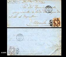 SPAIN 1860 CADIZ to MANILA directed Vapor de Guerra Jorge Juan,, FAKE