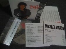 MICHAEL JACKSON / bad /JAPAN LTD mini LP CD OBI