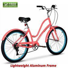 "Women Comfort Bike 26"" Pink Lightweight Aluminum Cruiser City Hybrid Shimano New"