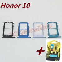 New OEM Nano Sim Card SD Card Tray Slot Holder For Huawei Honor 10 + Adapter