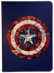 For iPad Pro 9.7 - iPad Air 1-2 - iPad 9.7  Iron Man Captain America Case Cover