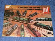 Catalogue JOUEF Collection trains 1978 - 1979
