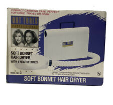 HOT TOOLS Professional Soft Bonnet Hair Dryer White Model 1051 V2 Compact Case