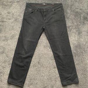 Tommy Hilfiger Regular Fit Black Men's Jeans Size W44 L32