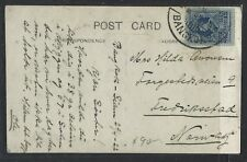 Thailand (P1412B) 1922 Ppc Rama 15 Stg Sent To Norway