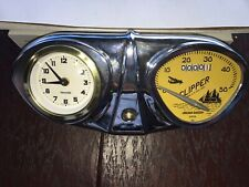 "Bicycle Speedometer Stewart Warner  26"" speedo W CLOCK console Schwinn Columbia"