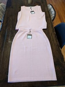 St. John Collection NWT Skirt and Sleeveless Top Set in Iced Jasmine