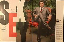 Patrick Dempsey 2pg + cover TV GUIDE magazine feature, clippings