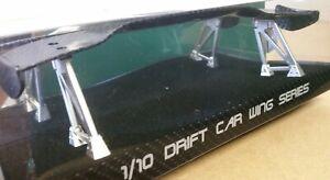1/10 RC Car on road drift Carbon Fibre effect rear Spoiler/Wing Superb Style
