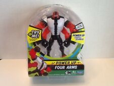 Ben 10 Power Up Deluxe Action Figure - Four Arms New 2017 Back Packaging Missin