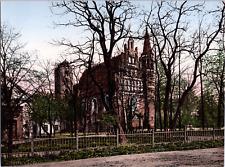 Deutschland, Bromberg. Garnisonskirche. vintage print photochromie, vintage ph